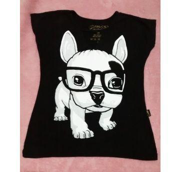 Blusa T shirt cachorrinho - 6 anos - Sem marca