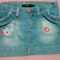 Saia jeans George bordada - 3 anos - George