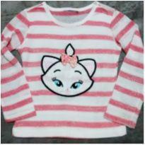 Suéter gatinha - 3 anos - Sem marca