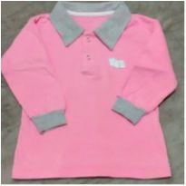 Blusa Polo em moletinho flanelado - 3 anos - 123