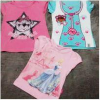 Kit com 3 blusas fofas - 3 anos - Disney
