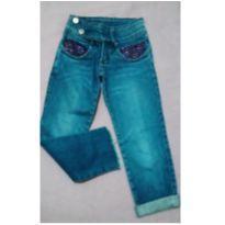 Calça jeans com lantejoulas - 8 anos - mackvanny