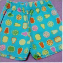 Shorts Green frutinhas - 3 anos - Green