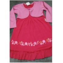 Vestido rosa com bolerinho - 3 anos - Tile e Sul