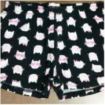 Shorts preto gatinhos - 6 anos - Kyly
