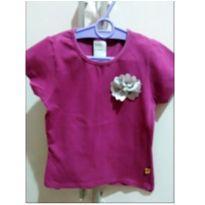 Blusa roxa com flor e perola - 4 anos - Mineral Kids