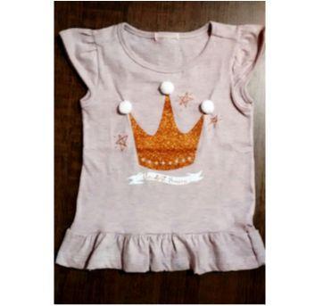 Blusa coroa de princesa com pompom - 3 anos - marisa