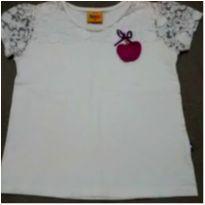 Blusa branca rendinha - 8 anos - Duduka
