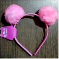 Tiara rosa pompom