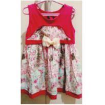 Vestido floral com laço de pérolas - 3 anos - LBaby