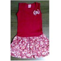 Vestido vermelho charmoso - 8 anos - Nina