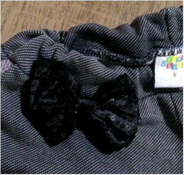 Shorts cotton jeans com laço - 3 anos - Toys & Kids