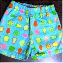 Shorts frutal Green - 3 anos - Green