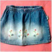 Saia jeans florzinhas - 6 anos - Oilily