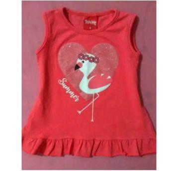 Blusinha flamingo meiga - 3 anos - Trenzinho