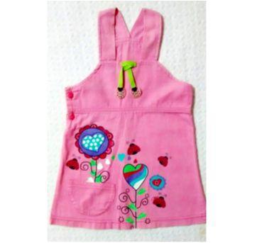 Jardineira rosa fofa - 3 anos - Zazen
