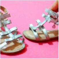 Sandalia lacinhos prateada Bibi - 20 - Bibi