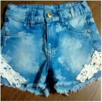 Shorts jeans com bordadinho - 3 anos - Poim, Cherokee e Up Baby