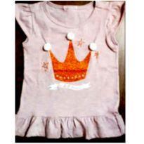 Blusinha de coroa com pompom e gliter
