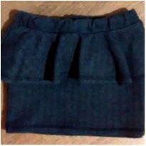 Saia charmosa cotton jeans com babadinhos - 8 anos - Figurinha