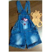 Jardineira jeans linda - 2 anos - Poim, Cherokee e Up Baby
