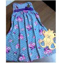 Vestido charmoso floral com bolinhas - 8 anos - Kyly