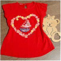 Blusinha vermelha charmosa - 3 anos - Cute Baby