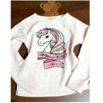 Blusa unicornio com pedrinhas - 8 anos - Vic&Vicky