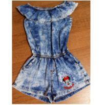 Macaquinho jeans Minnie - 4 anos - Disney