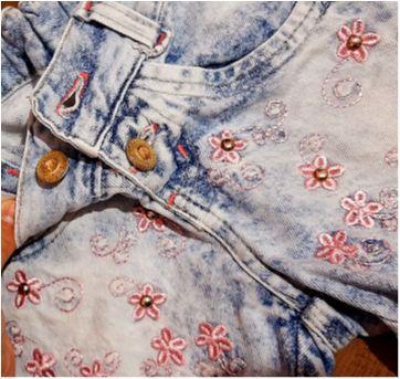 Conjuntinho jeans um charme - 6 anos - Bruna