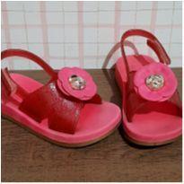 Sandalia flor rosa