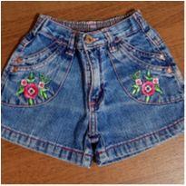 Shorts jeans bordadinho - 3 anos - marisa