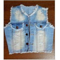 Colete jeans com aplicações - 8 anos - Jeans