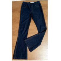 Calça flare lycra imita jeans - 6 anos - Fuzarka
