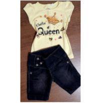 Conjunto bermudinha jeans - 4 anos - Palomino