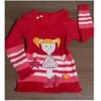 Suéter fofo menininha - 3 anos - Trico Baby