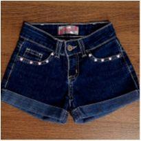 Shorts jeans com pedraria - 6 anos - Palomino