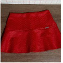 Saia com shorts linda vermelha - 10 anos - Miss Trm e Turma da Malha