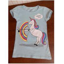 Blusinha fofa unicornio azul - 6 anos - Palomino
