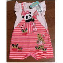Macaquinho fofo panda rosa - 1 ano - Marlan