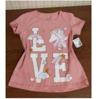 Blusinha unicornio brilho rosê - 4 anos - marisa
