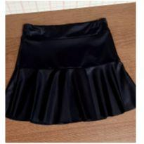 Saia preta imita couro - 8 anos - Menina Rio