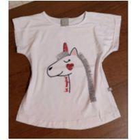 Blusinha Hering unicornio com paetê - 4 anos - Hering Kids
