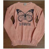 Suéter rosê borboleta - 6 anos - Fuzarka