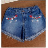 Shorts jeans Hering bordado - 10 anos - Hering Kids