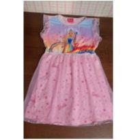 Vestido Barbie com tule - 8 anos - Barbie