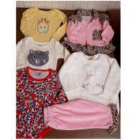 Lotinho manga longa super fofos - 3 a 6 meses - Hering Baby e Baby Club