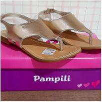 Sandalia dourada Pampili