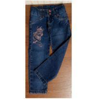 Calça jeans bordada - 4 anos - Jeans