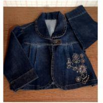 Jaquetinha jeans bordada - 2 anos - Pull-ga
